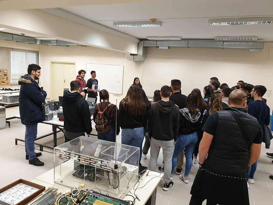 Student visit during Open Day 2020